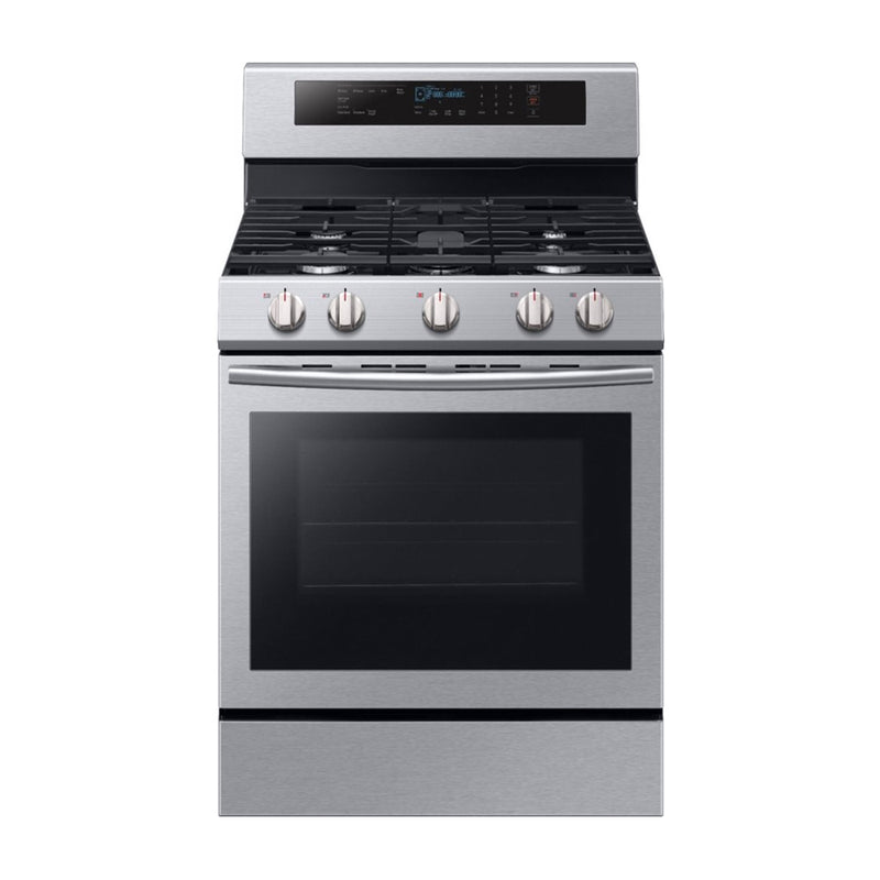 Samsung - 5.8 Cu. Ft. Self cleaning Freestanding Gas Convection Range - Stainless steel - Appliances Club