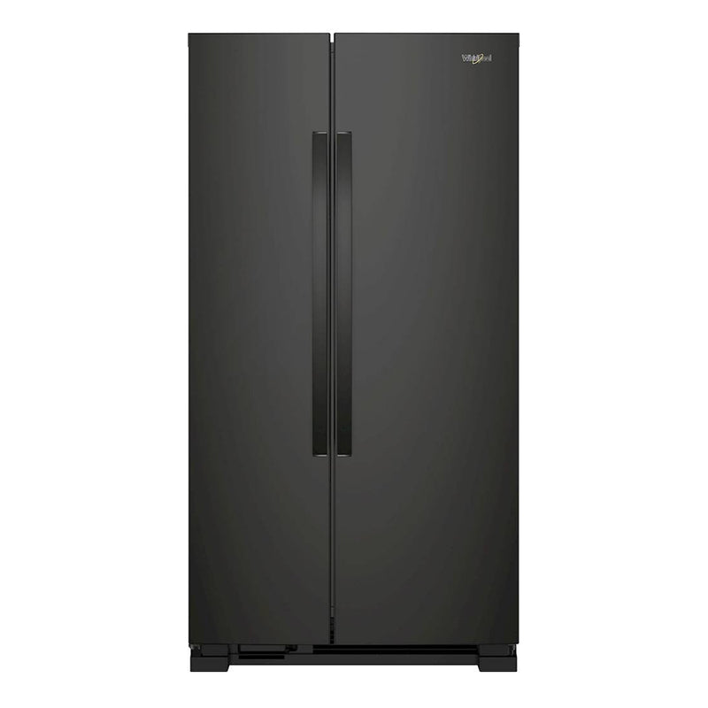 Whirlpool - 25.1 Cu. Ft. Side by Side Refrigerator - Black