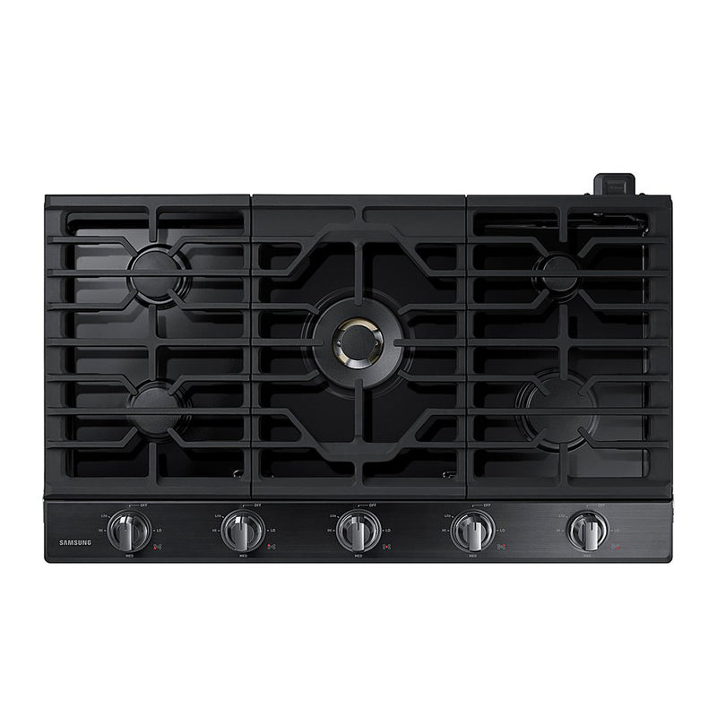 "Samsung - 36"" Built In Gas Cooktop - Fingerprint Resistant Black Stainless Steel - Appliances Club"