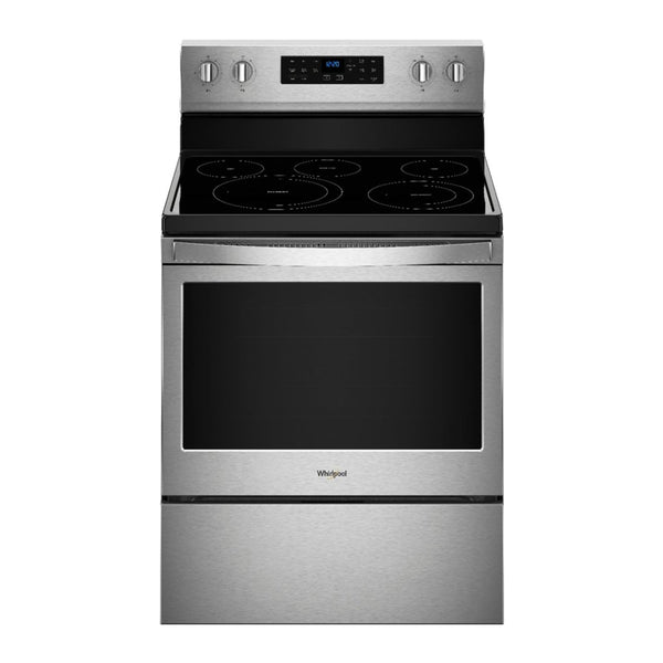 Whirlpool - 5.3 Cu. Ft. Self Cleaning Freestanding Electric Convection Range - Stainless steel - Appliances Club