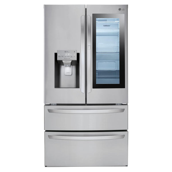 LG - 28 cu. ft. 4 Door Smart Refrigerator with InstaView Door in Door - Stainless Steel - Appliances Club