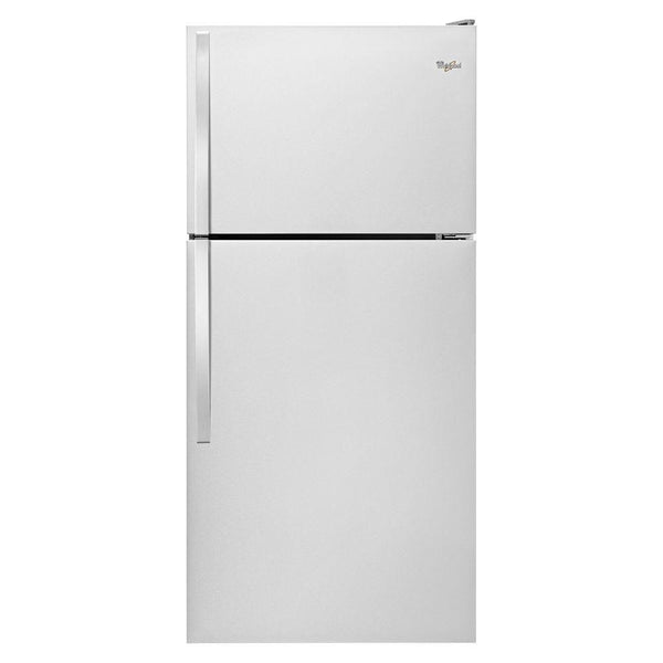 Whirlpool - 18.2 cu. ft. Top Freezer Refrigerator - Monochromatic Stainless Steel - Appliances Club