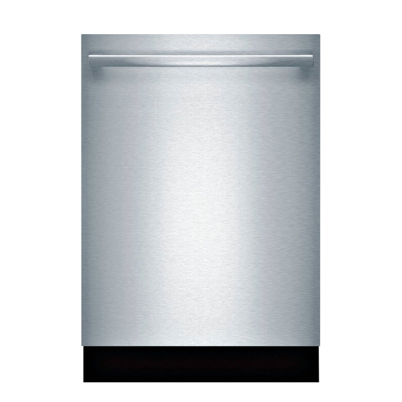"Bosch - 100 Series 24"" Top Control Built In Dishwasher with Stainless Steel Tub - Stainless steel"