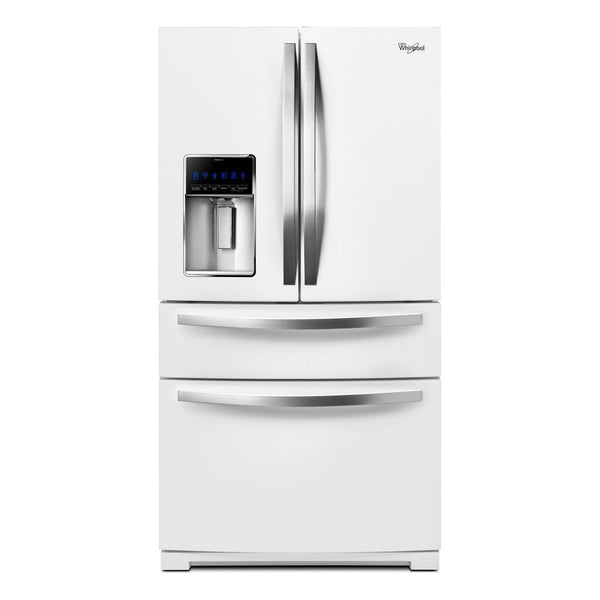 Whirlpool - 24.7 Cu. Ft. 4 Door French Door Refrigerator - White Ice