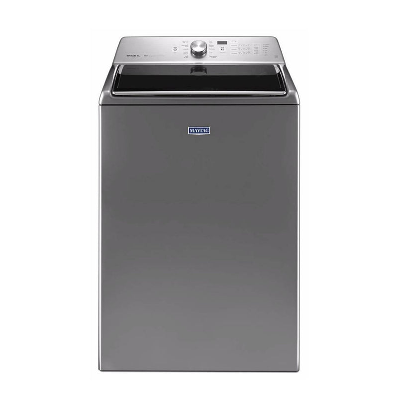 Maytag - 5.3 Cu. Ft. 11 Cycle High Efficiency Top Loading Washer - Metallic Slate