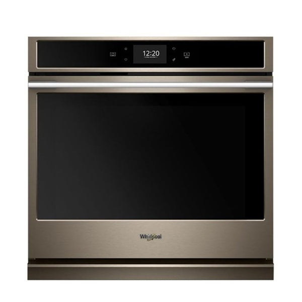 "Whirlpool - 30"" Built In Single Electric Convection Wall Oven - Sunset Bronze - Appliances Club"