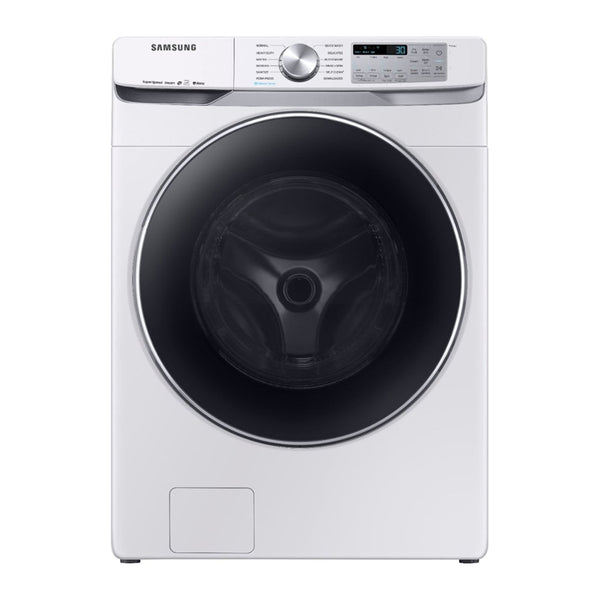 Samsung - 4.5 Cu. Ft. 12 Cycle Front Loading Smart Wi Fi Washer with Steam - White