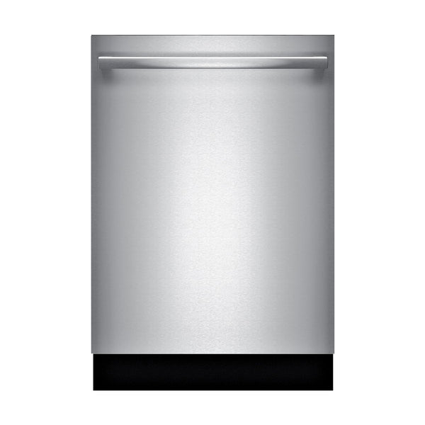 "Bosch - 800 Series 24"" Bar Handle Dishwasher with Stainless Steel Tub - Stainless steel - Appliances Club"