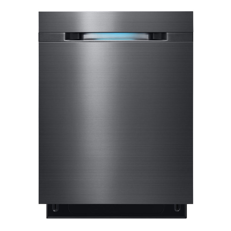 "Samsung - WaterWall 24"" Tall Tub Built In Dishwasher - Black stainless steel"
