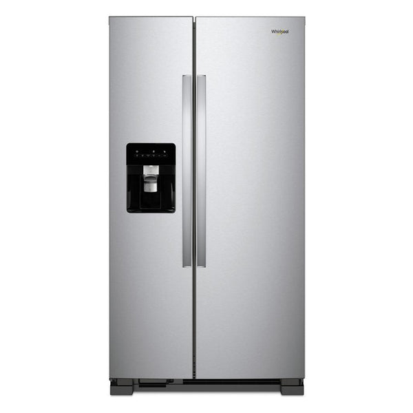 Whirlpool - 24.6 cu. ft. Side by Side Refrigerator - Monochromatic Stainless Steel