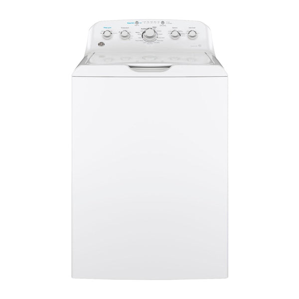 GE - 4.5 Cu. Ft. 14 Cycle Top Loading Washer - White On White