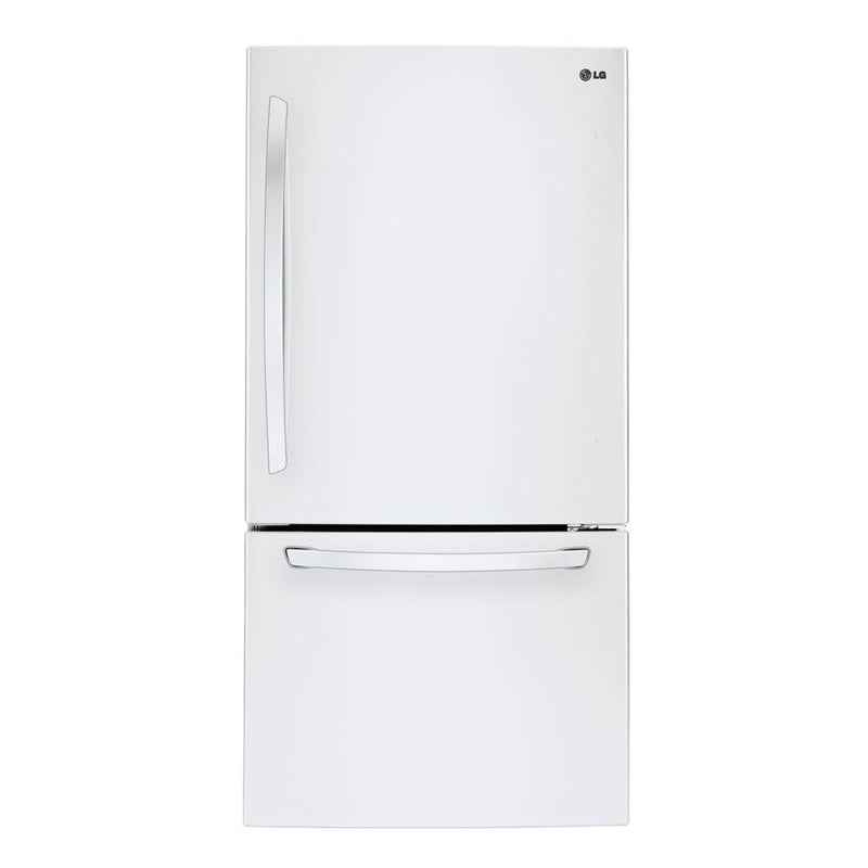 LG - 24.1 cu. ft Bottom Freezer Refrigerator - Smooth White