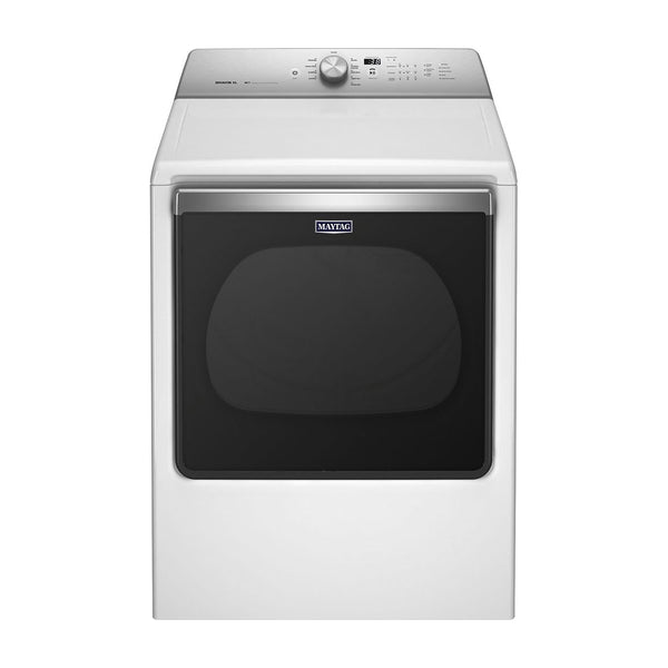 Maytag - 8.8 Cu. Ft. 10 Cycle Electric Dryer - White - Appliances Club