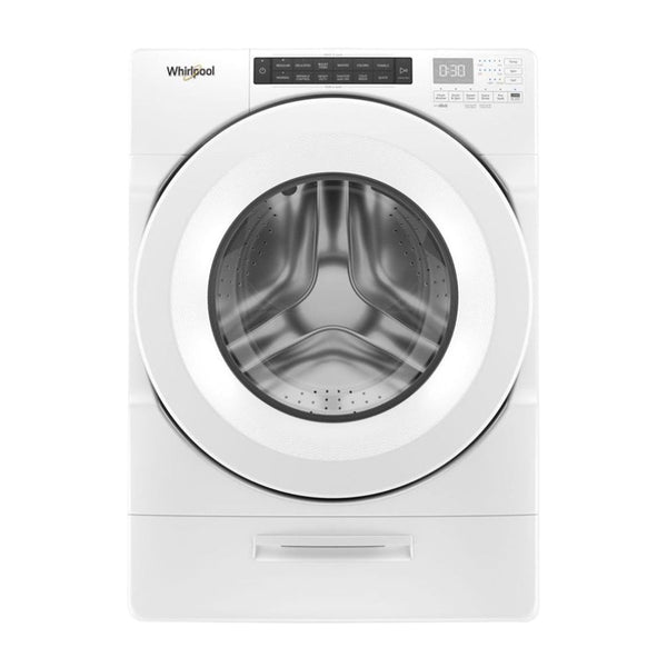 Whirlpool - 4.5 cu. ft. Closet Depth Front Load Washer with Load & Go™ Dispenser - White