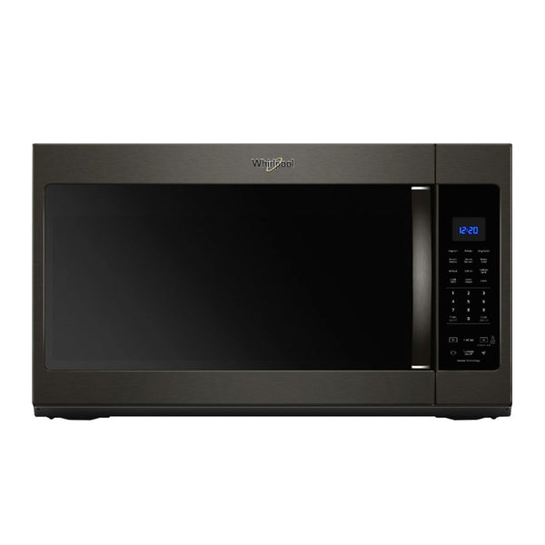 Whirlpool - 1.9 Cu. Ft. Over the Range Microwave with Sensor Cooking - Black stainless steel - Appliances Club