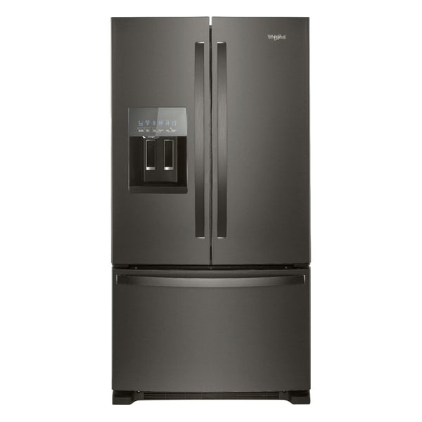Whirlpool - 24.7 Cu. Ft. French Door Refrigerator - Black stainless steel