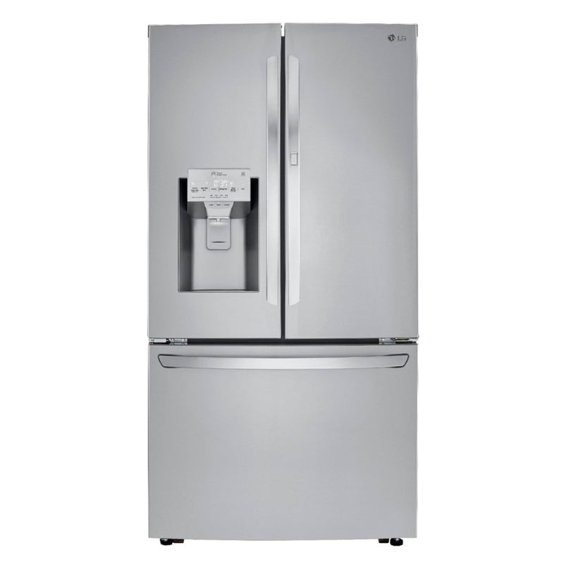 LG - 29.7 Cu. Ft. French Door in Door Refrigerator - PrintProof Stainless Steel - Appliances Club
