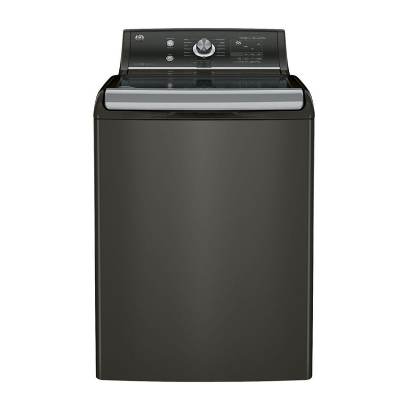 GE - 5.1 Cu. Ft. 13 Cycle High Efficiency Top Loading Washer - Metallic Carbon