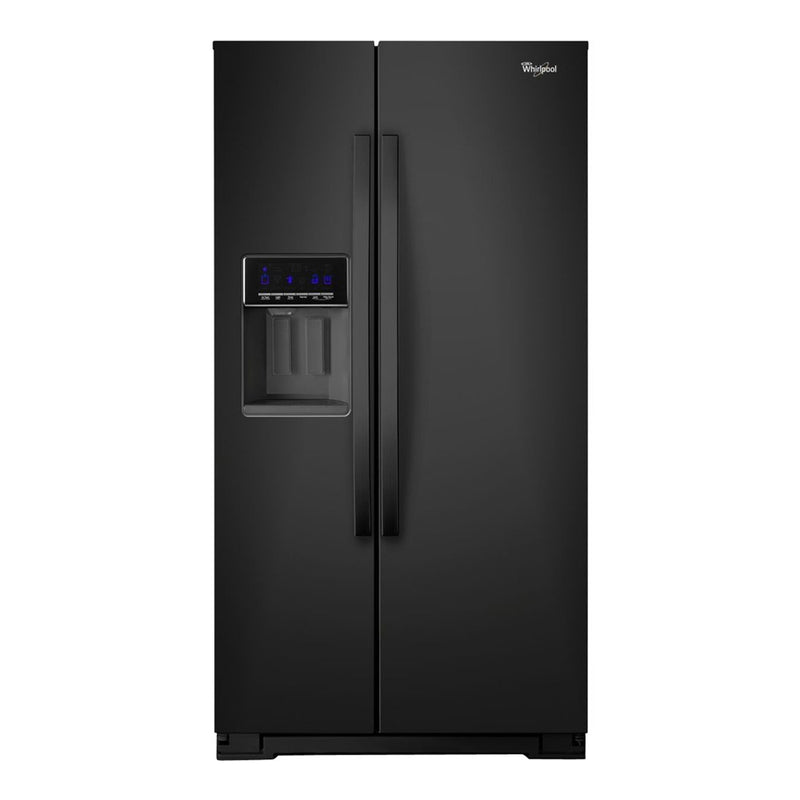 Whirlpool - 20.6 cu ft Counter Depth Side by Side Refrigerator with Ice Maker - Black