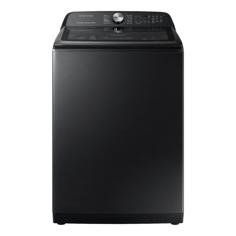 Samsung - 5.0 Cu. Ft. 12 Cycle Top Loading Washer - Fingerprint Resistant Black Stainless Steel - Appliances Club