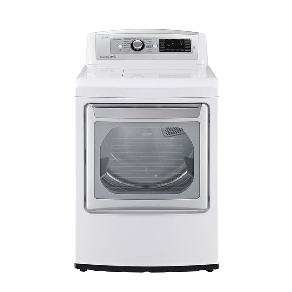 LG - 7.3 Cu. Ft. 14 Cycle Steam Gas Dryer - White - Appliances Club
