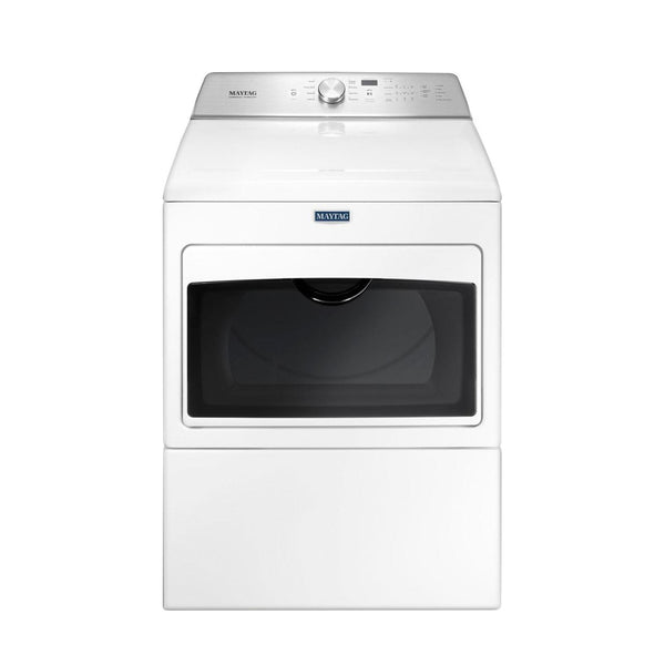 Maytag - 7.4 Cu. Ft. 9 Cycle Electric Dryer - White - Appliances Club