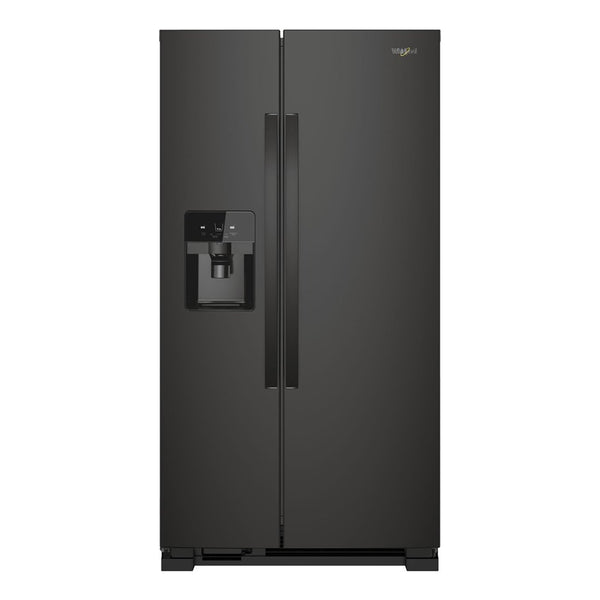 Whirlpool - 21.4 Cu. Ft. Side by Side Refrigerator - Black