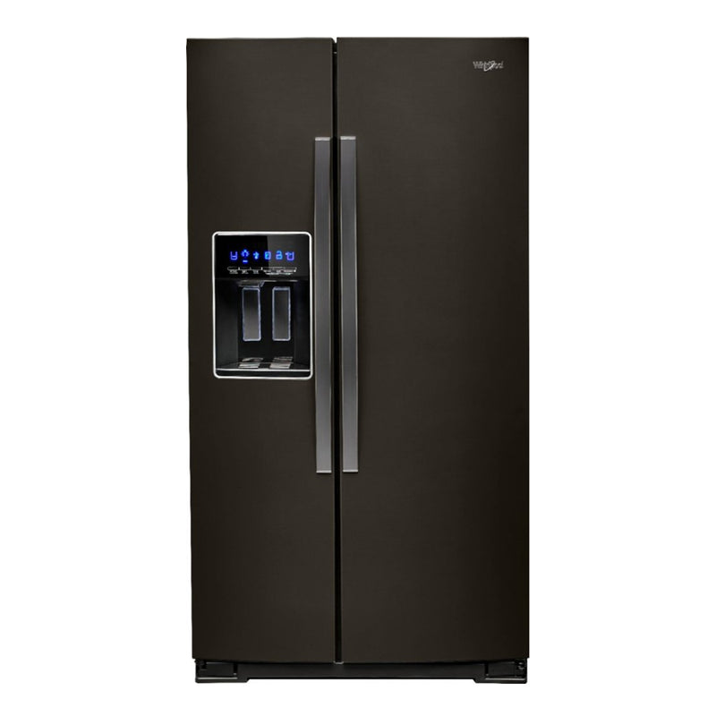 Whirlpool-28.4 Cu. Ft. Side by Side Refrigerator with Water and Ice Dispenser-Black stainless steel