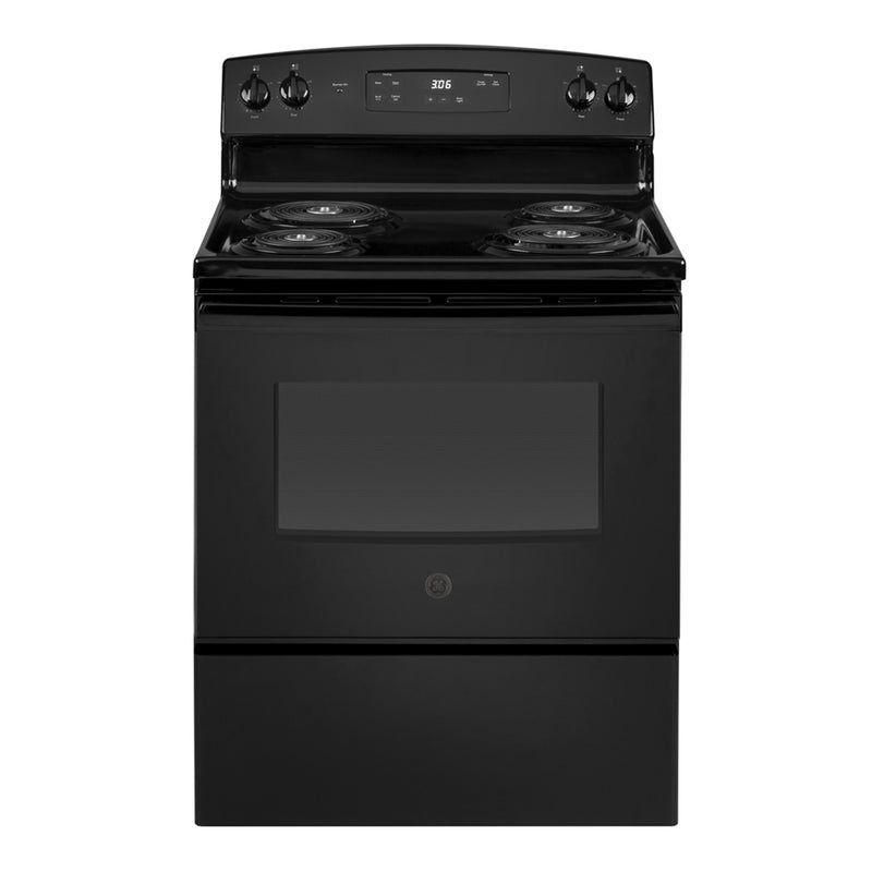 GE - 5.0 Cu. Ft. Freestanding Electric Range - Black