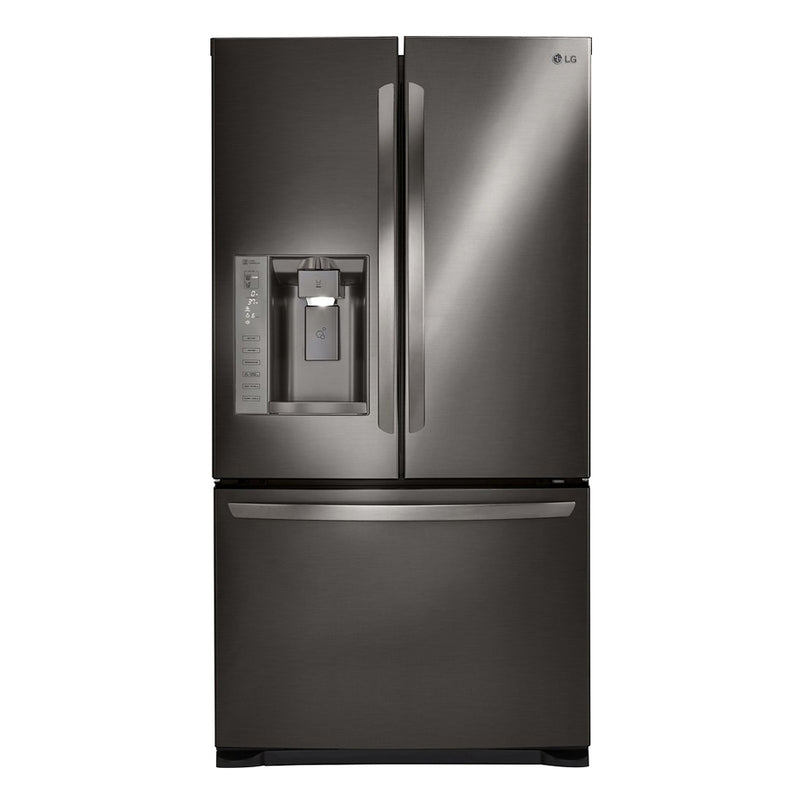 LG - 24.1 Cu. Ft. French Door Refrigerator - Black stainless steel