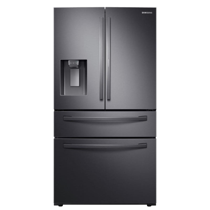Samsung - 27.8 cu. ft. 4 Door French Door Refrigerator with Food Showcase Fingerprint Resistant - Black stainless steel - Appliances Club