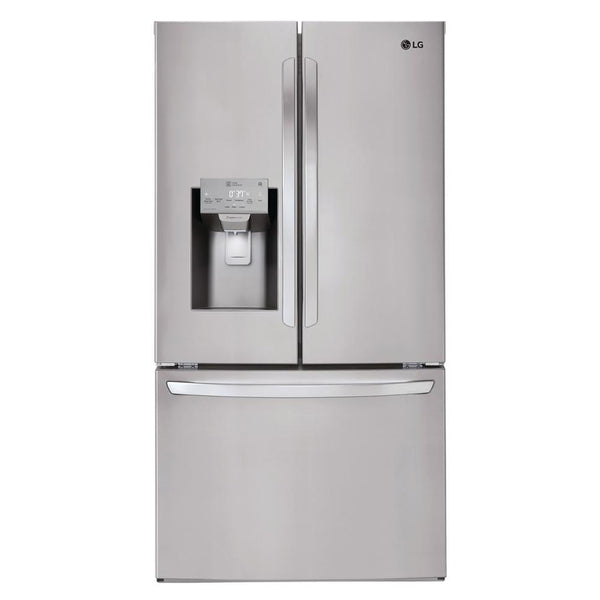 LG - 26.2 cu. ft. French Door Smart Refrigerator with Wi-Fi Enabled - Stainless Steel - Appliances Club