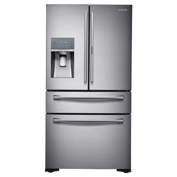 Samsung - 22.4 Cu. Ft. 4 Door Flex French Door Counter Depth Refrigerator with Food ShowCase - Stainless steel - Appliances Club