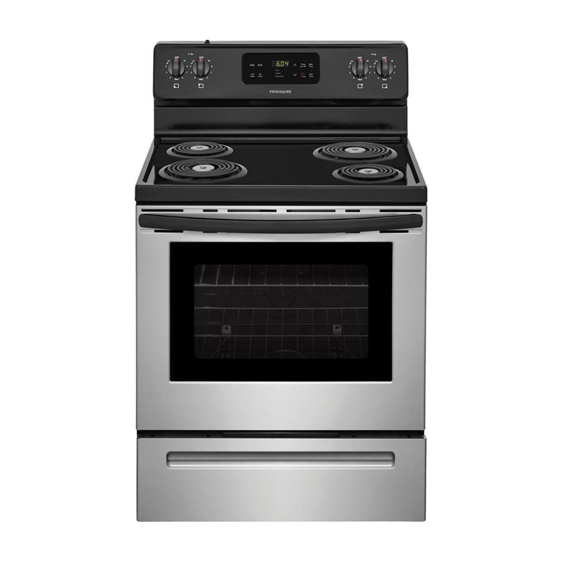 Frigidaire - 30 Inch Electric Freestanding Range - Stainless Steel - Appliances Club