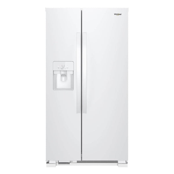Whirlpool - 21.4 Cu. Ft. Side by Side Refrigerator - White