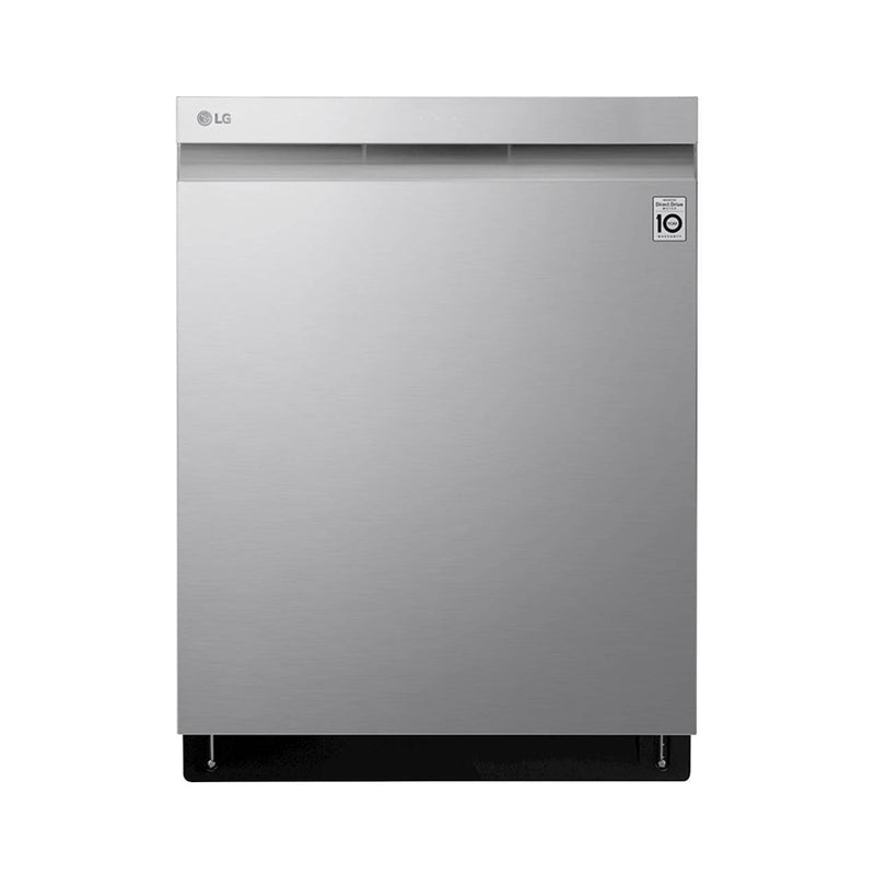 "LG - 24"" Top Control Built In Dishwasher with Stainless Steel Tub - PrintProof Stainless Steel - Appliances Club"