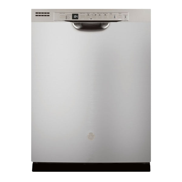"GE - 24"" Front Control Tall Tub Built In Dishwasher - Stainless steel"