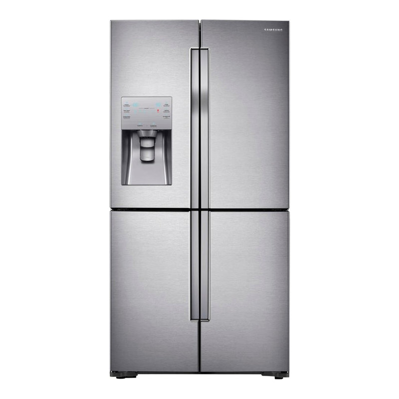 Samsung - 23 cu. ft. Counter Depth 4 Door Refrigerator with Cool Select Plus - Stainless Steel