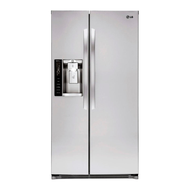 LG - 26.2 Cu. Ft. Side by Side Refrigerator with Thru the Door Ice and Water - Stainless steel