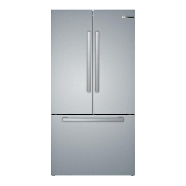 Bosch - 800 Series 21 cu ft Counter Depth French Door Refrigerator with Ice Maker - Stainless Steel