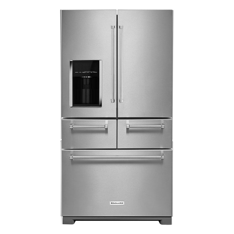 KitchenAid - 25.8 Cu. Ft. 5 Door French Door Refrigerator - Stainless steel - Appliances Club