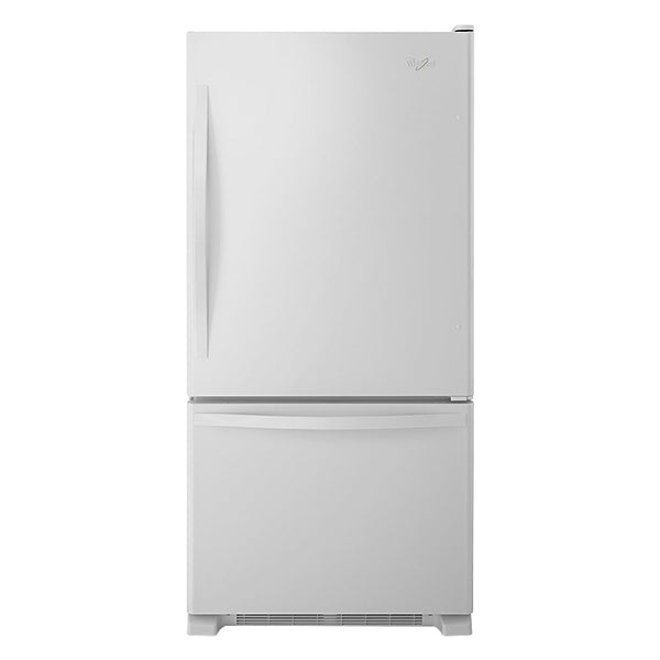 Whirlpool - 21.9 Cu. Ft. Bottom Freezer Refrigerator - White on White - Appliances Club