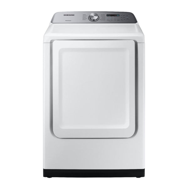 Samsung - 7.4 Cu. Ft. 10 Cycle Electric Dryer - White - Appliances Club