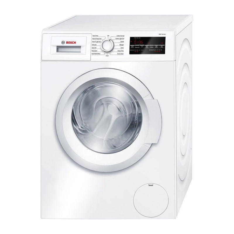 Bosch - 300 series 2.2 Cu. Ft. 15 Cycle High Efficiency Compact Front Loading Washer - White
