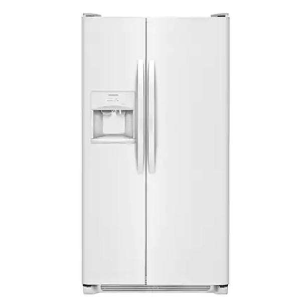 Frigidaire - 25.5 cu ft Side by Side Refrigerator with Ice Maker - White - Appliances Club