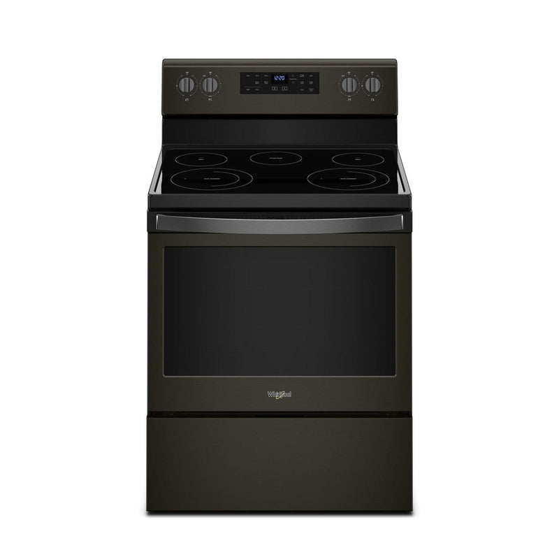 Whirlpool - 5.3 Cu. Ft. Self Cleaning Freestanding Electric Range - Black stainless steel - Appliances Club