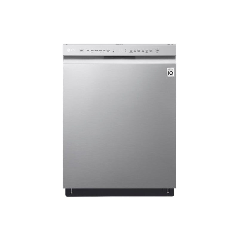 "LG - 24"" Front Control Built In Dishwasher with QuadWash and Stainless Steel Tub - Stainless steel - Appliances Club"