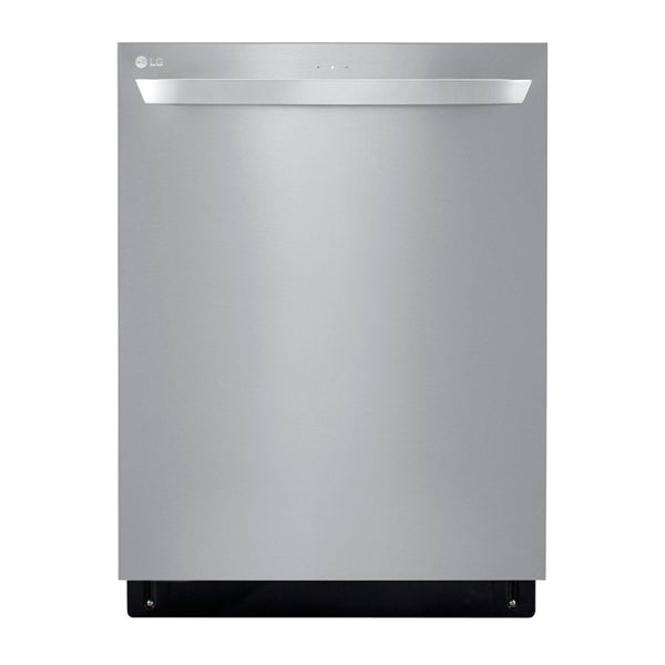 LG - Top Control Smart wi-fi Enabled Dishwasher with QuadWash™ - Stainless steel
