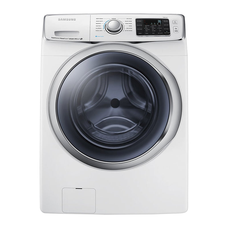 Samsung - 4.5 Cu. Ft. 13 Cycle High Efficiency Steam Front Loading Washer - White