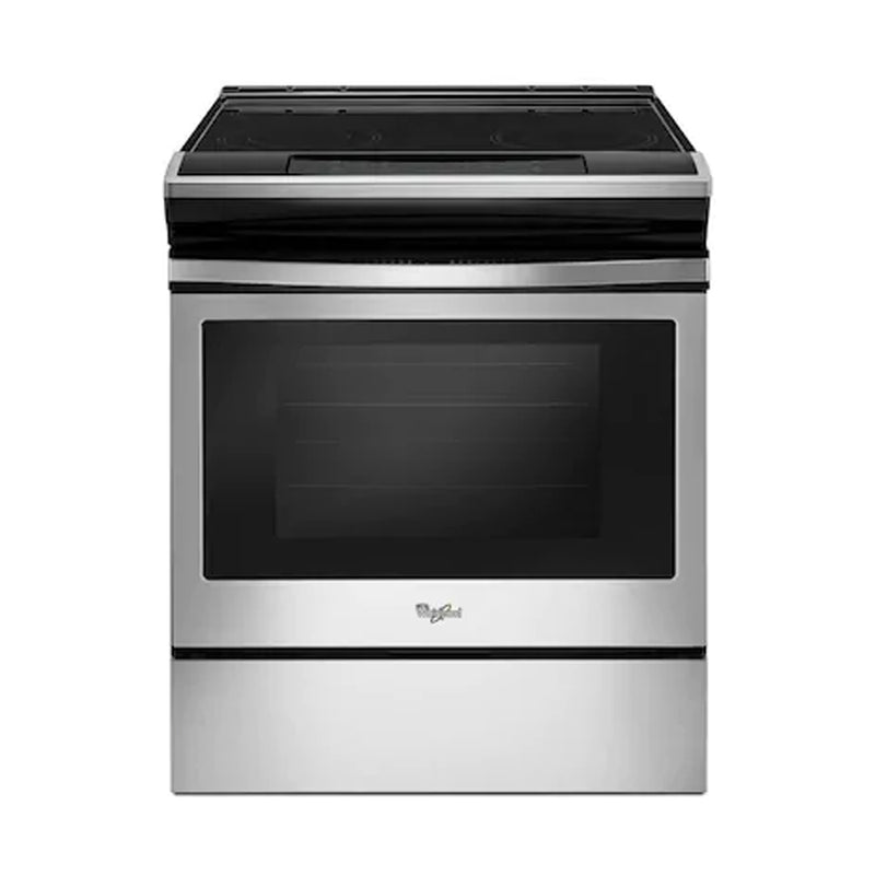 Whirlpool - 4.8 Cu. Ft. Self Cleaning Slide In Electric Range - Stainless steel - Appliances Club